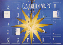 Adventskalenderkarte Gesegneten Advent