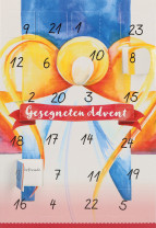 Adventskalenderkarte - Gesegneten Advent