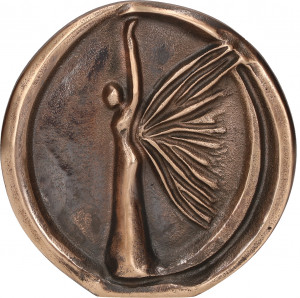 Relief aus Bronze Engel