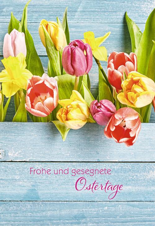 Klappkarte Frohe und gesegnete Ostern