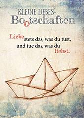 Postkarte Kleine Liebes-Bootschaften