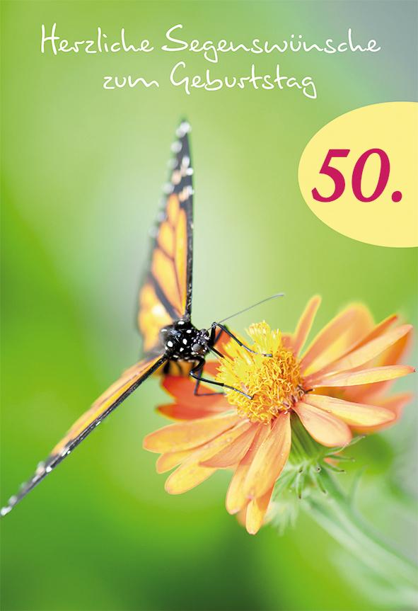 Doppelkarte Herzliche Segenswünsche Zum 50 Geburtstag 55910121