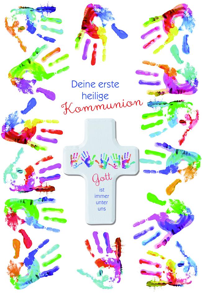 Glückwunschkarte zur Kommunion Deine erste heilige Kommunion