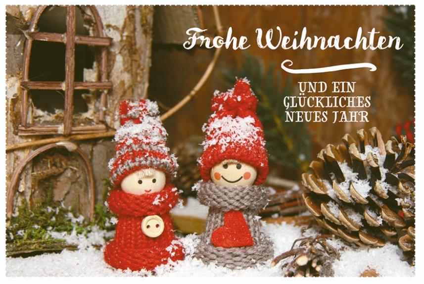 Glückwunschkarte Frohe Weihnachten und ein glückliches neues Jahr