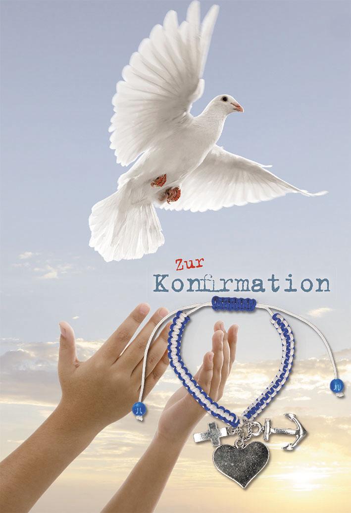 Glückwunschkarte mit Armband Zur Konfirmation