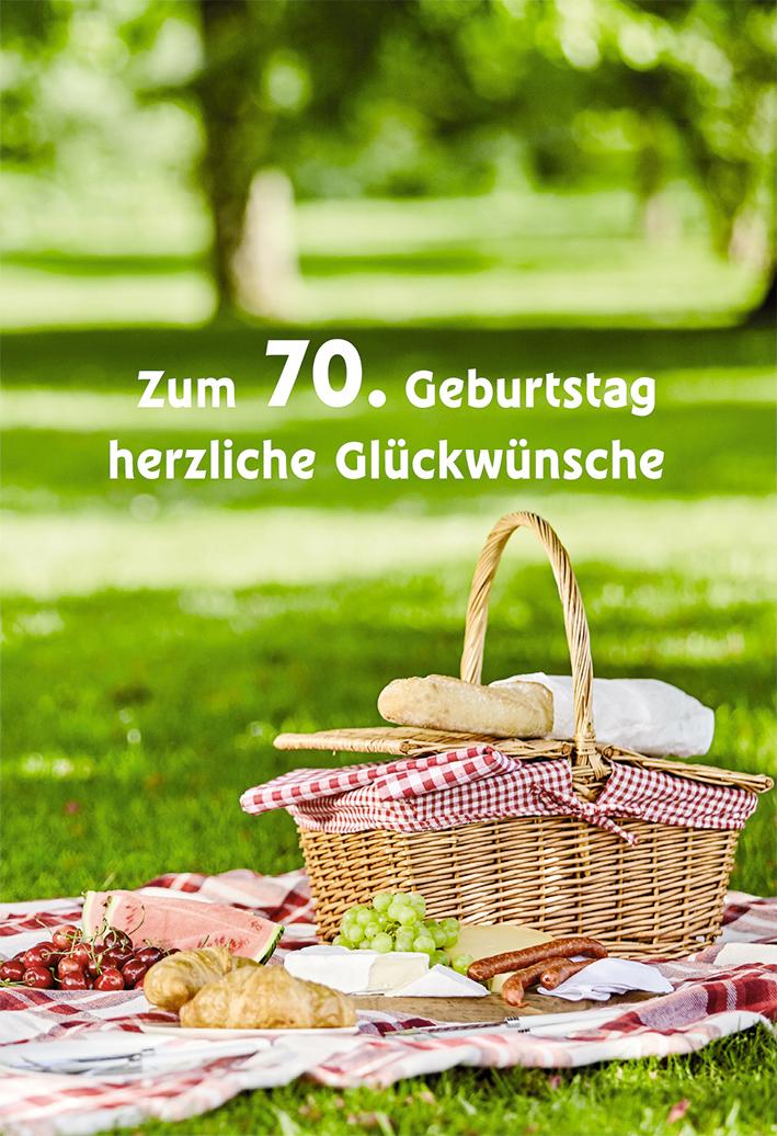 Gluckwunschkarte Zum 70 Geburtstag Herzliche Gluckwunsche