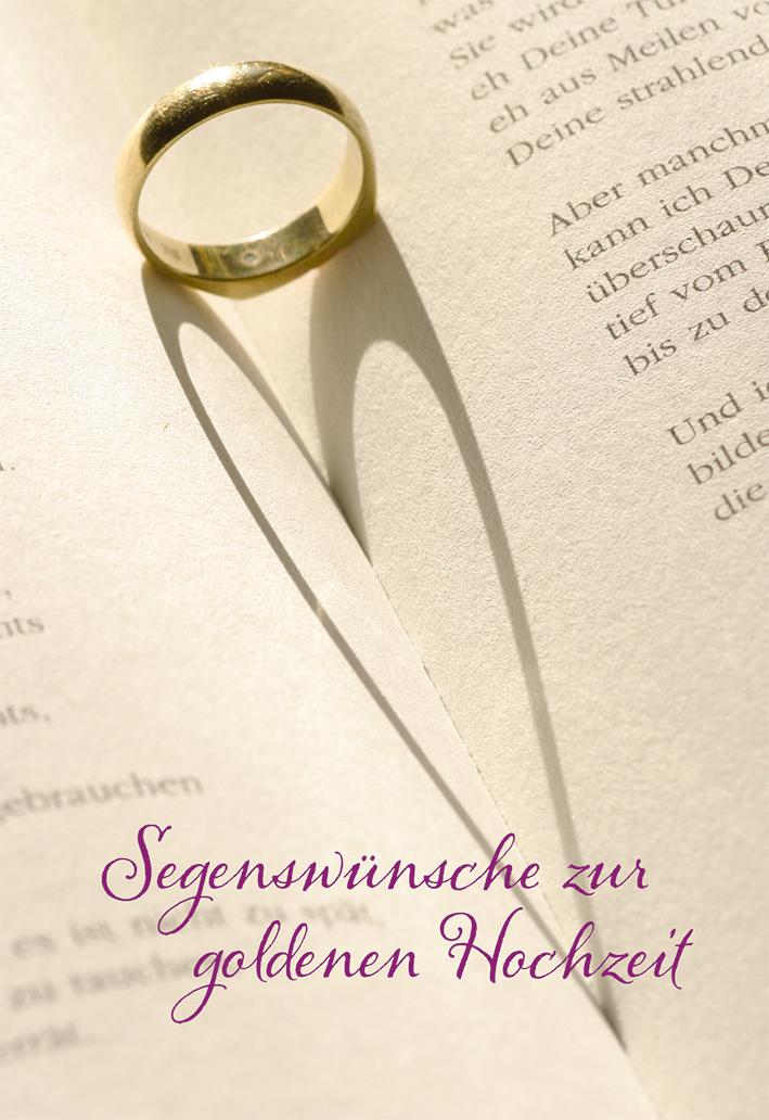 Glückwunschkarte Segenswünsche Zur Goldenen Hochzeit