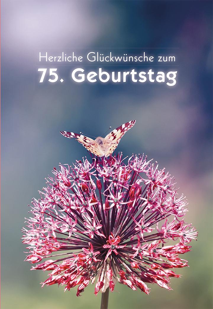 Gluckwunschkarte Herzliche Gluckwunsche Zum 75 Geburtstag