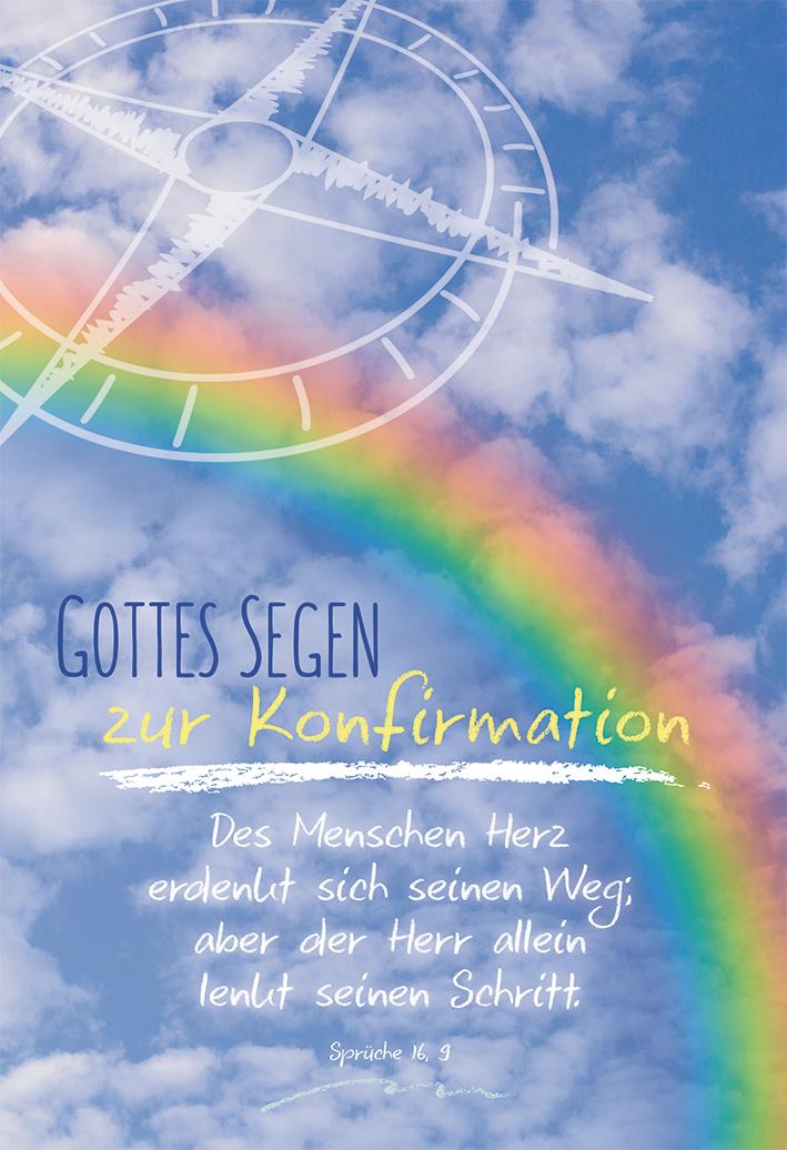 Glückwunschkarte Gottes Segen Zur Konfirmation