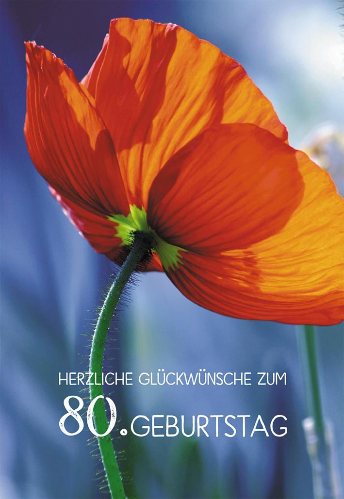 Glückwunschkarte Herzliche Segenswünsche Zum 80 Geburtstag