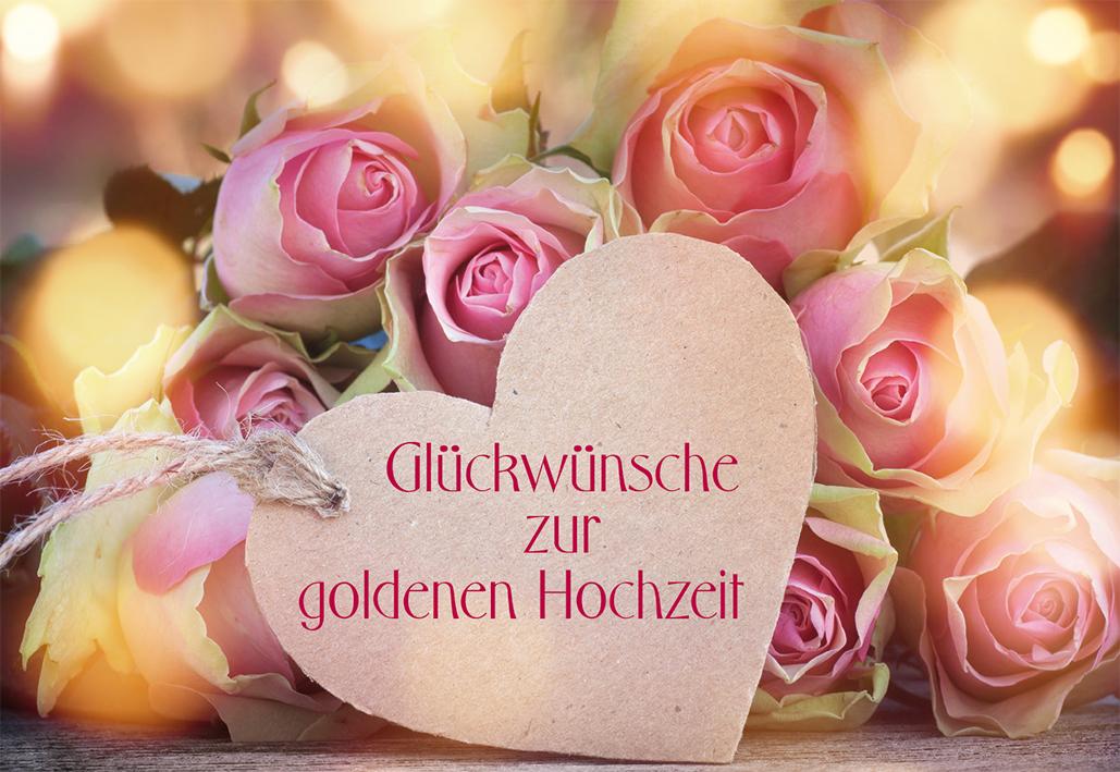 Glückwunschkarte Glückwünsche zur goldenen Hochzeit