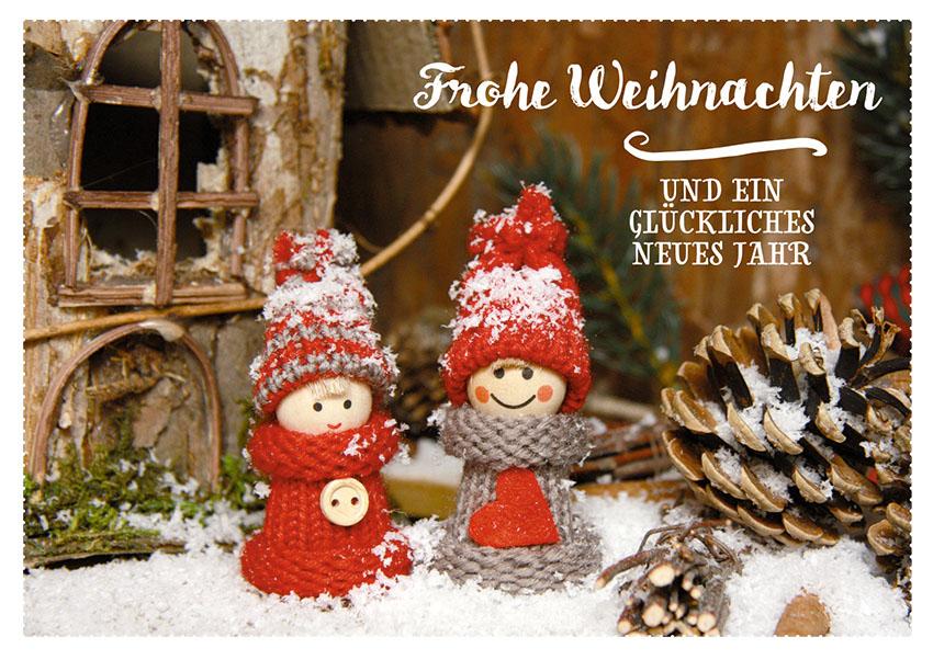 Frohe Weihnachten Und Gutes Neues Jahr.Postkarte Frohe Weihnachten Und Ein Glückliches Neues Jahr