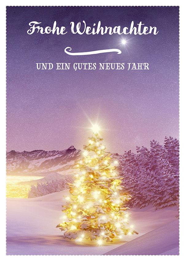 Postkarte Frohe Weihnachten und ein gutes neues Jahr