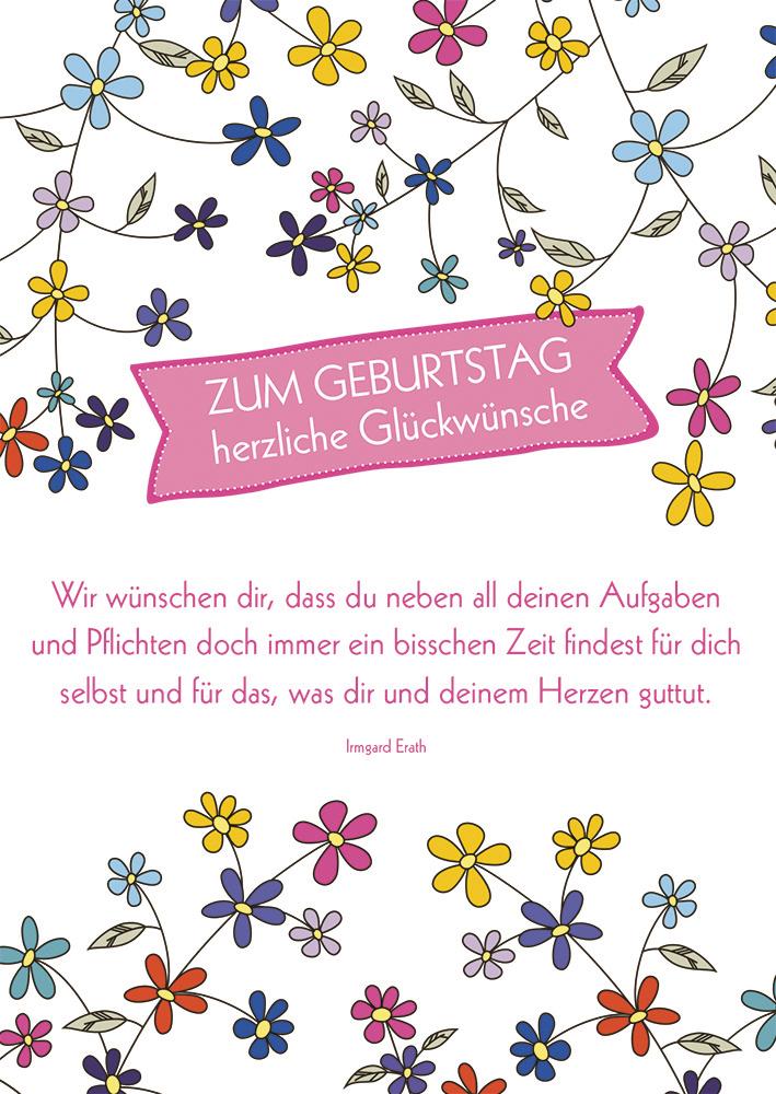 Postkarte Zum Geburtstag Herzliche Gluckwunsche