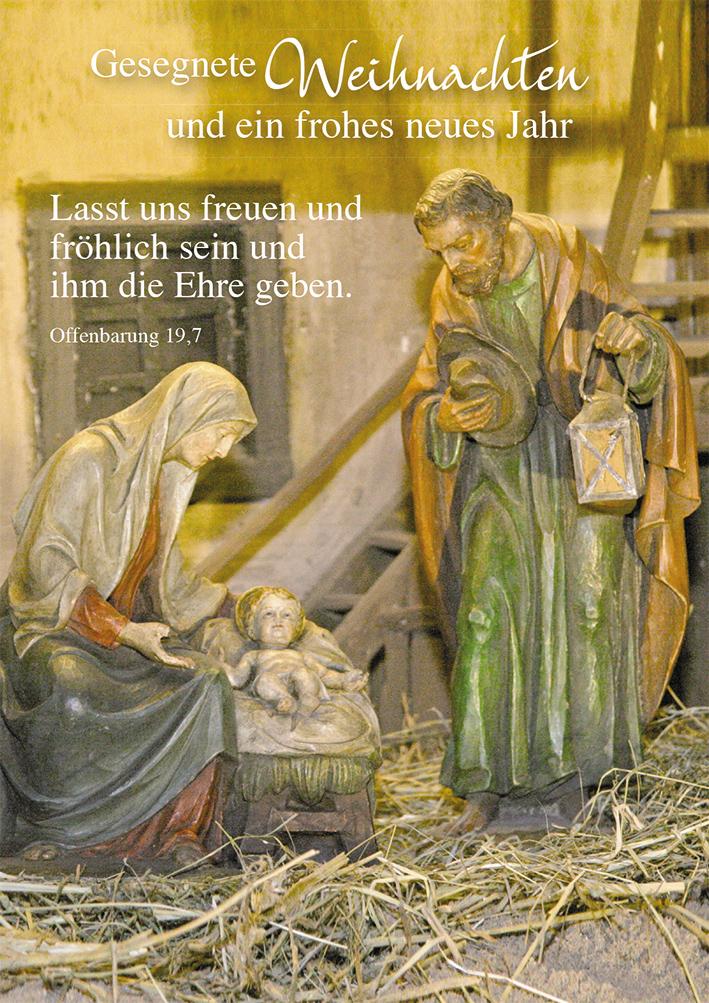 Frohe Und Gesegnete Weihnachten.Postkarte Gesegnete Weihnachten Und Ein Frohes Neues Jahr