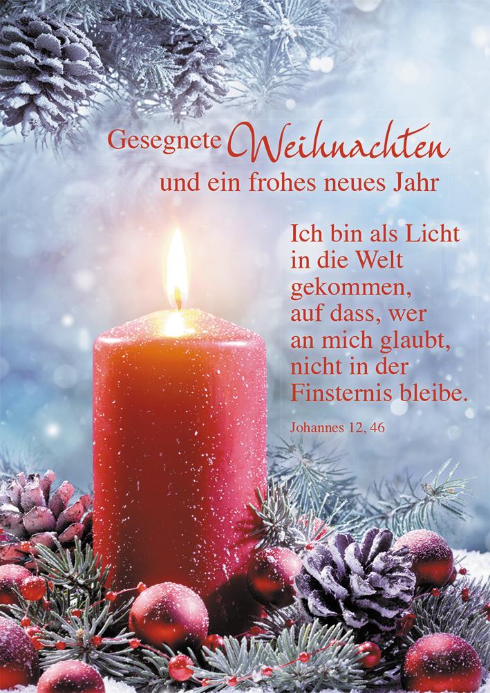 Postkarte Gesegnete Weihnachten und ein frohes neues Jahr