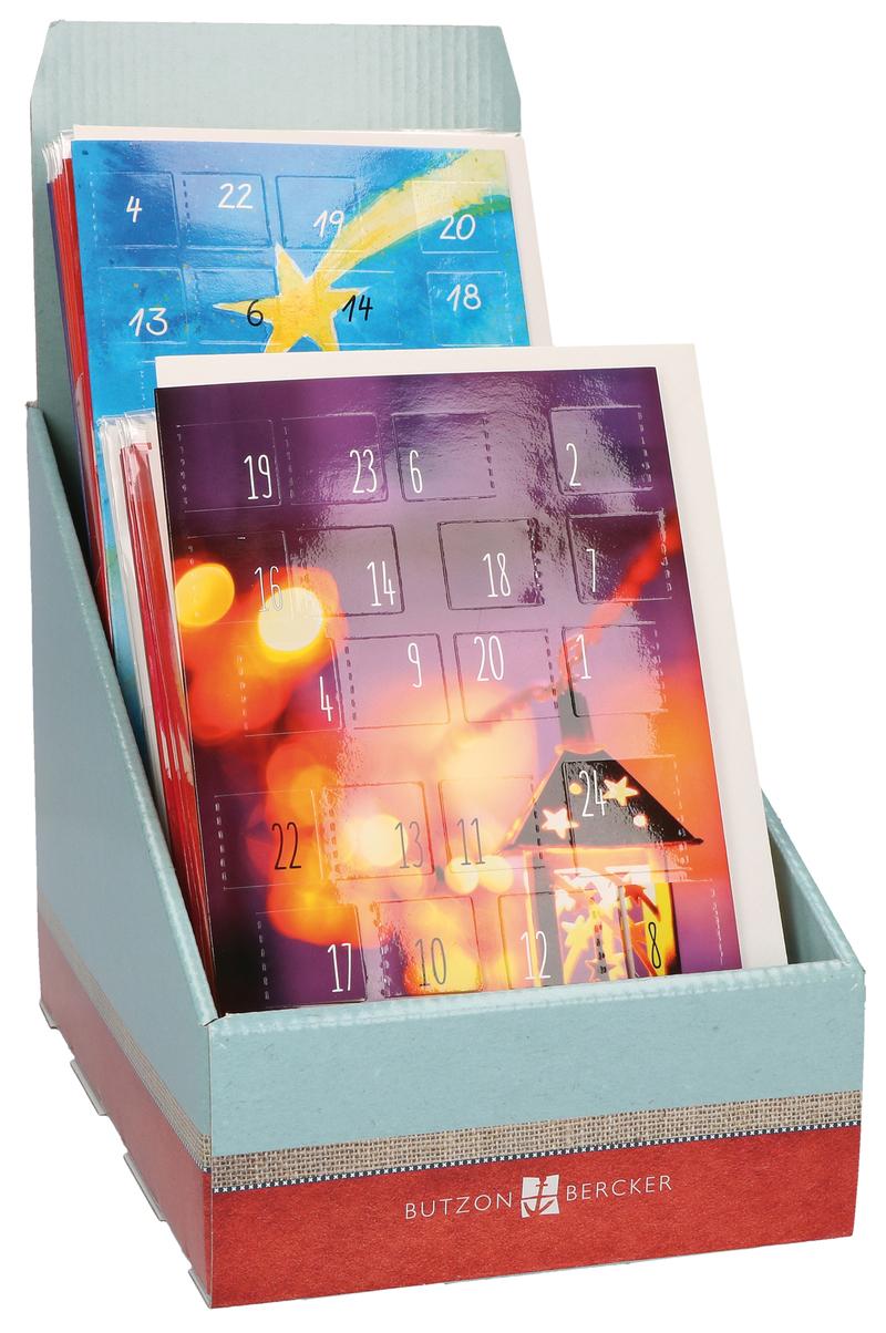Display - Adventskalender-Karten