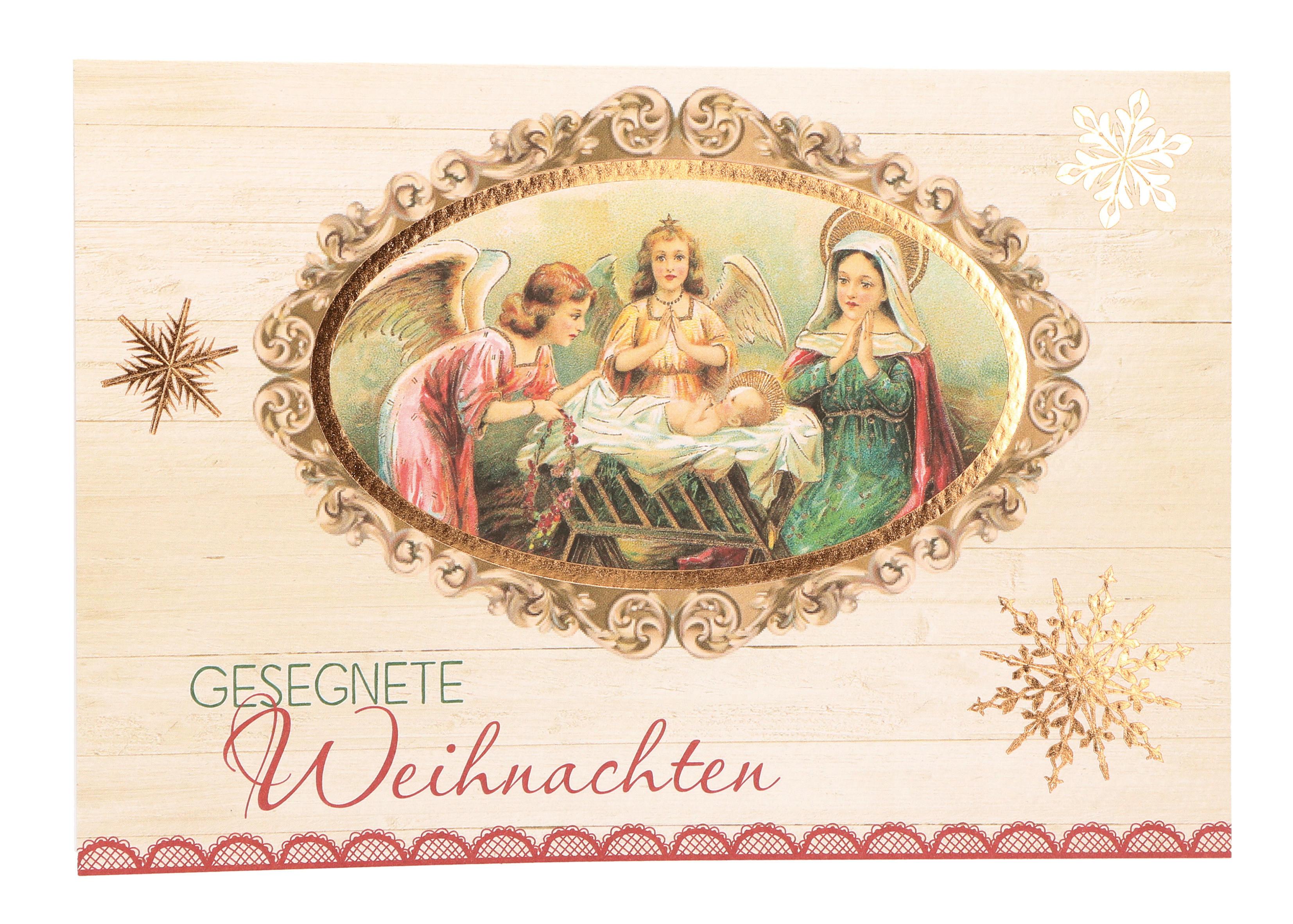 Glückwunschkarte zu Weihnachten Gesegnete Weihnachten