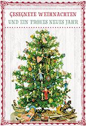 Glückwunschkarte Gesegnete Weihnachten und ein frohes neues Jahr
