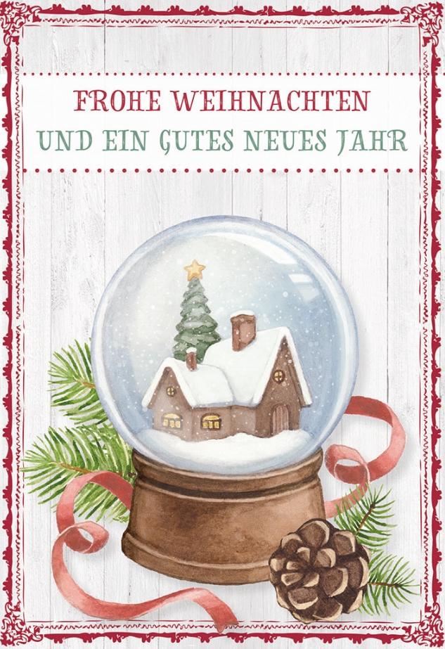 Glückwunschkarte Frohe Weihnachten und ein gutes neues Jahr