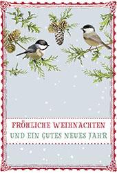 Glückwunschkarte Fröhliche Weihnachten und ein gutes neues Jahr