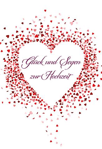 Glückwunschkarte Glück und Segen zur Hochzeit