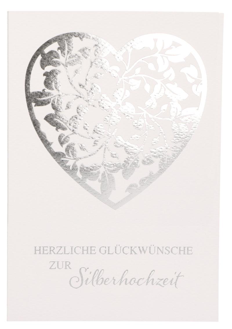 Glückwunschkarte Herzliche Glückwünsche Zur Silberhochzeit