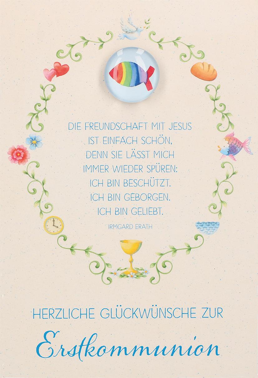 Glückwunschkarte Mit Glasmagnet Herzliche Glückwünsche Zur
