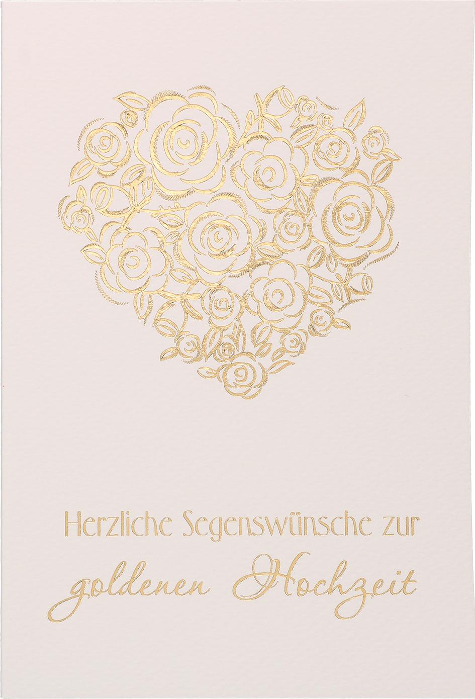 Glückwunschkarte Herzliche Segenswünsche Zur Goldenen Hochzeit