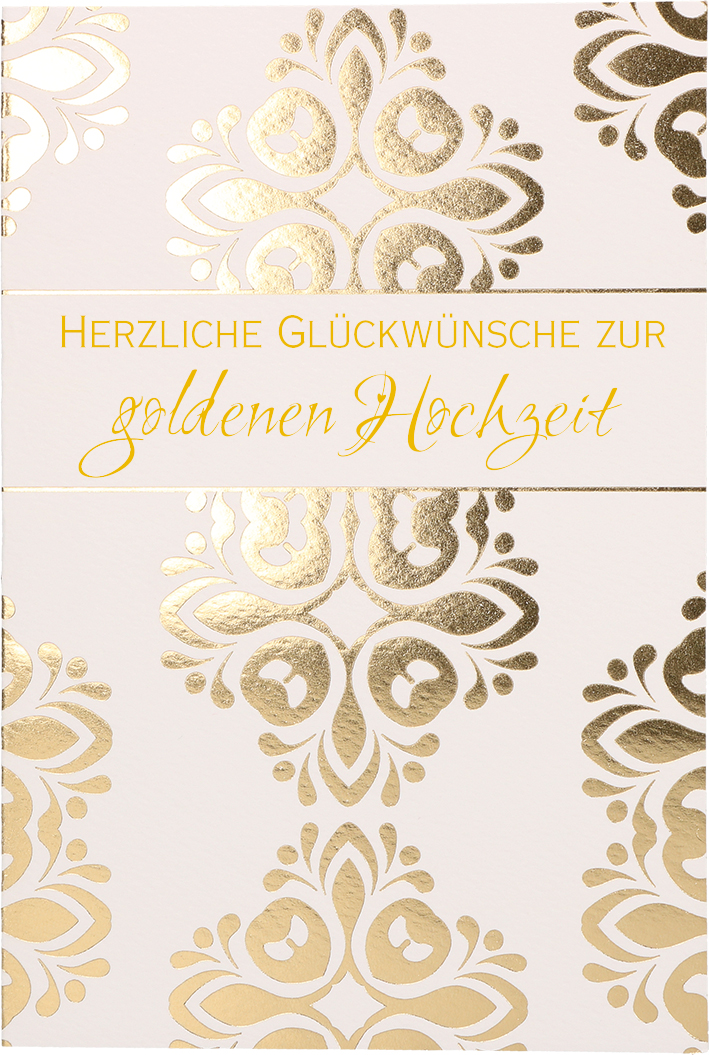 Glückwunschkarte Herzliche Glückwünsche Zur Goldenen Hochzeit
