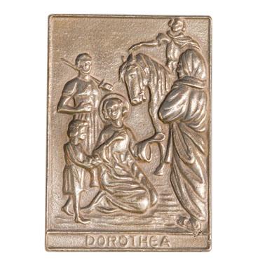 Bronzenamensplakette Dorothea