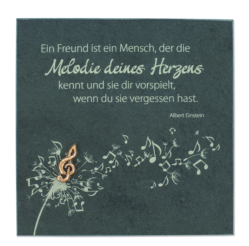 Schieferrelief Melodie des Herzens