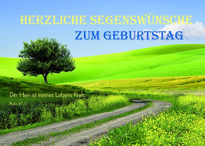 postkarte herzliche segenswünsche zum geburtstag
