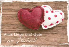 Glückwunschkarte Alles Liebe und Gute zur Hochzeit