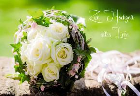 Glückwunschkarte Zur Hochzeit alles Liebe