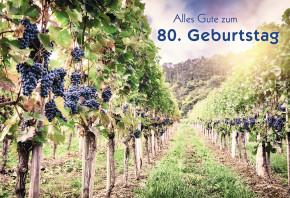 Glückwunschkarte Alles Gute zum 80. Geburtstag